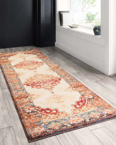 Isadora Rug in Antique Ivory & Sunset by Loloi II