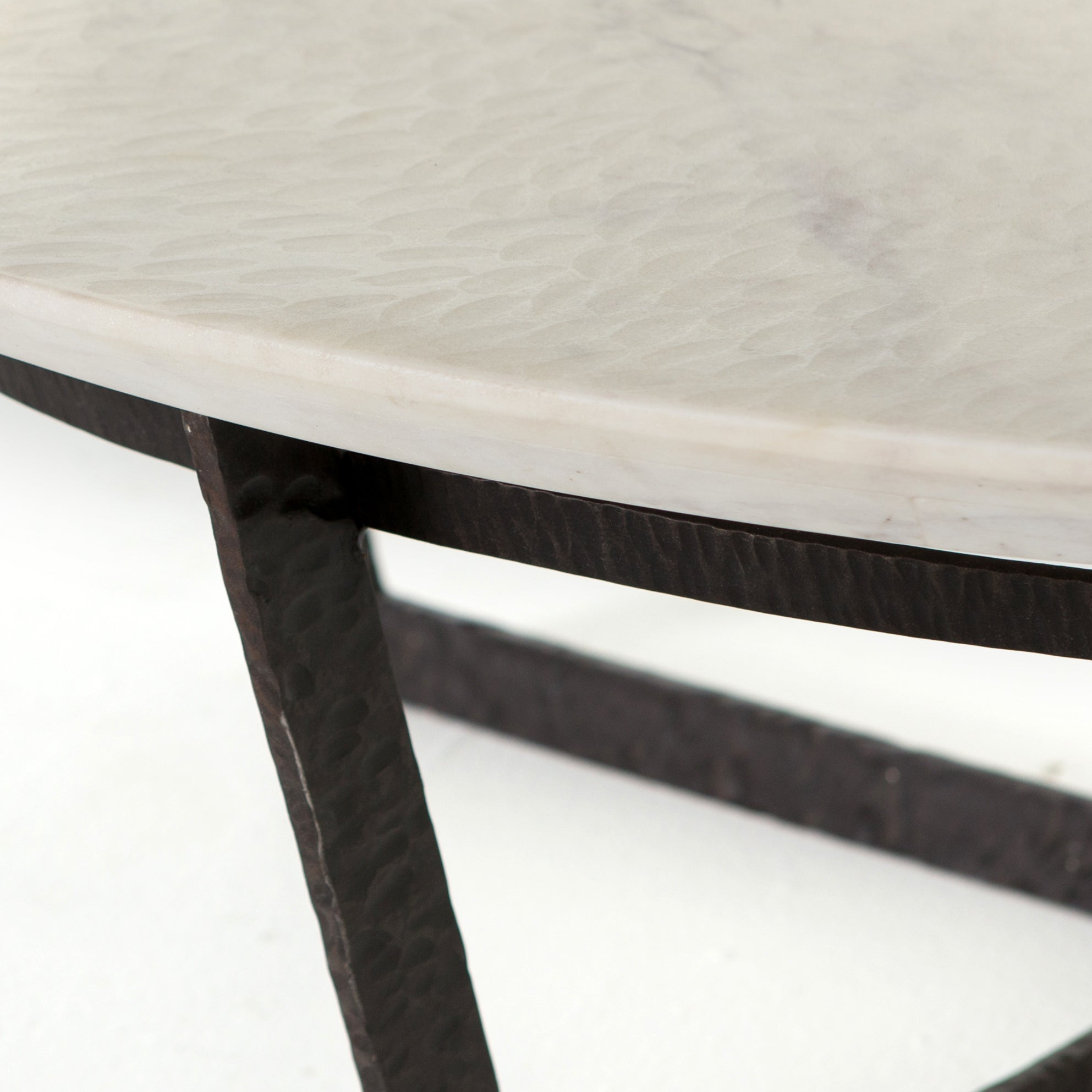 Felix Round Coffee Table In Rustic Fossil