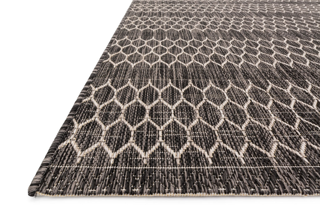Isle Rug in Black & Grey by Loloi