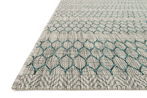 Isle Rug in Grey & Teal by Loloi