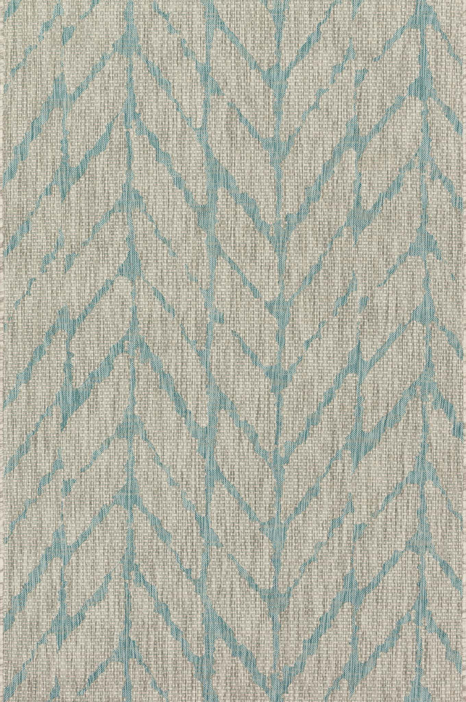 Isle Rug in Mist & Aqua by Loloi