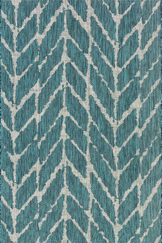 Isle Rug in Teal & Grey by Loloi