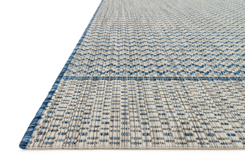 Isle Rug in Grey & Blue by Loloi