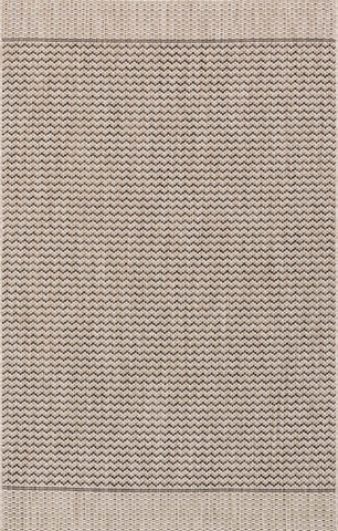 Isle Rug in Grey & Black by Loloi
