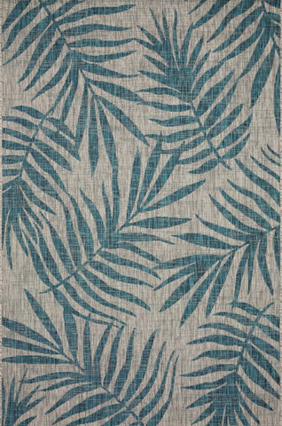 Isle Rug in Grey & Aqua by Loloi