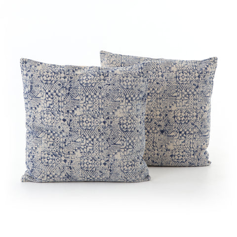 Set of 2 Faded Mosaic Print Pillows