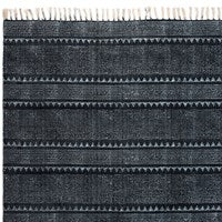 Indigo Block Print Rug by BD Studio