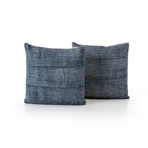 Faded Blue Haze Pillow, Set Of 2 by BD Studio