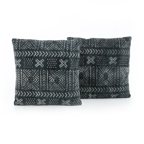 Set of 2 Mud Cloth Print Pillows