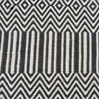 Black Cotton Woven Rug by BD Studio