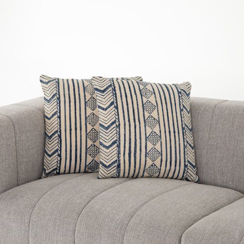 Faded Blue Diamond Pillows, Set Of 2 in Various Sizes by BD Studio