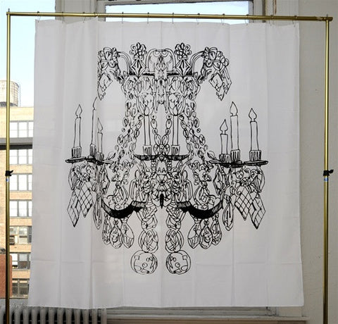 Chandelier Shower Curtain by Alexa Pulitzer design by Izola