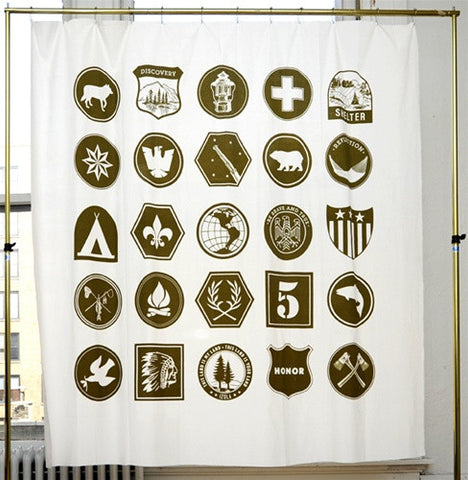 Scout Shower Curtain design by Izola