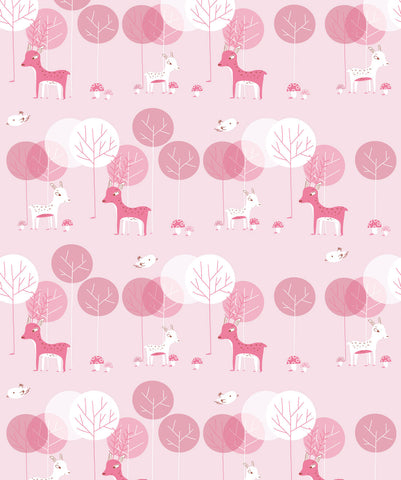 I Heart Deers Wallpaper from the Wallpaper Republic Collection by Milton & King