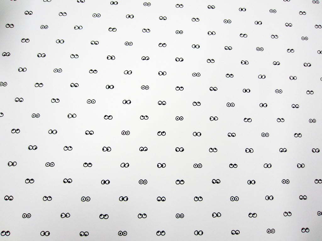 I See You Wallpaper in White design by Cavern Home