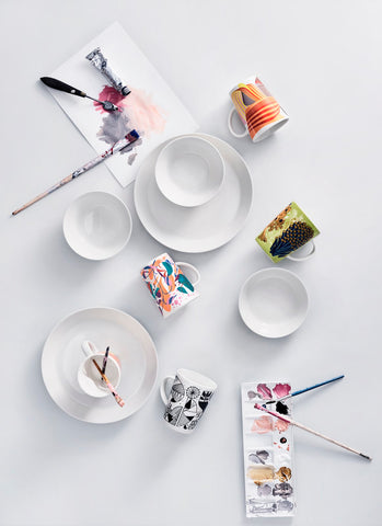 Teema 16 Piece Starter Set in White design by Kaj Franck for Iittala