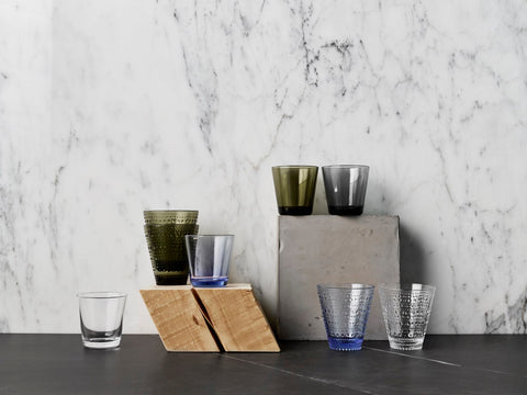Set of 2 Glassware in Various Sizes & Colors design by Aino Aalto for Iittala