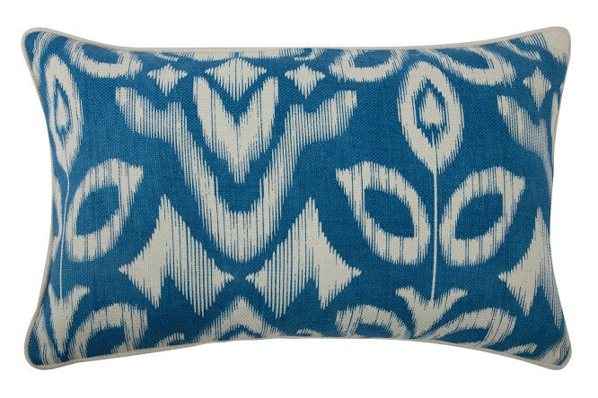 "Ikat 12"" x 20"" Reversible Pillow in Azure design by Thomas Paul"