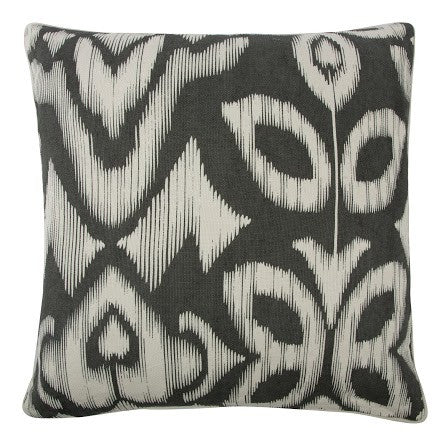 "Ikat 22"" Reversible Pillow in Charcoal design by Thomas Paul"