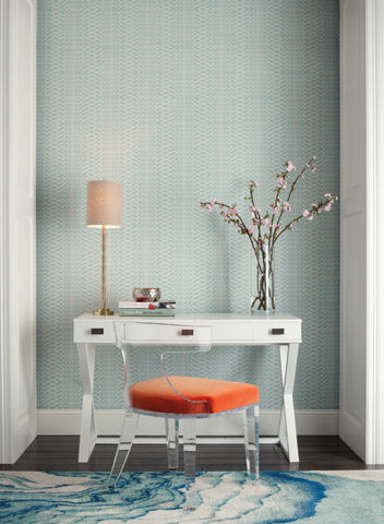 Illusion Wallpaper in Blue from the Candice Olson Journey Collection by York Wallcoverings