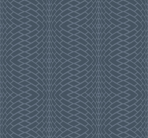 Illusion Wallpaper in Navy from the Candice Olson Journey Collection by York Wallcoverings