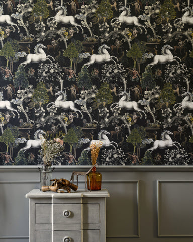 Imaginarium Wallpaper in Dark from the Wallpaper Compendium Collection by Mind the Gap