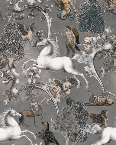 Imaginarium Wallpaper in Grey from the Wallpaper Compendium Collection by Mind the Gap