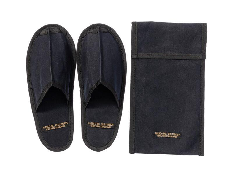 Waxed Canvas Portable Slipper - Large - Black