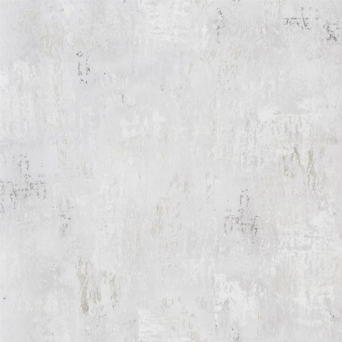 Impasto Wallpaper in Silver from the Tulipa Stellata Collection by Designers Guild