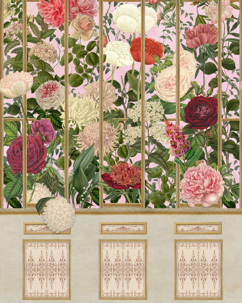 Sample Imperial Flora Wallpaper in Pink and Multi from the Wallpaper Compendium Collection by Mind the Gap