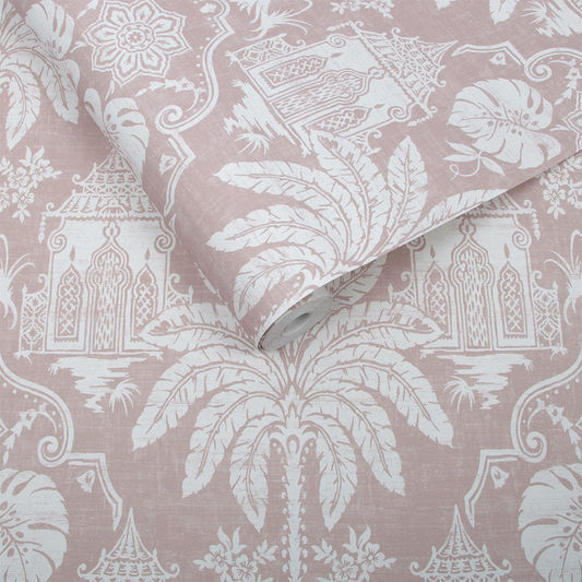 Imperial Wallpaper in Pink from the Exclusives Collection by Graham & Brown