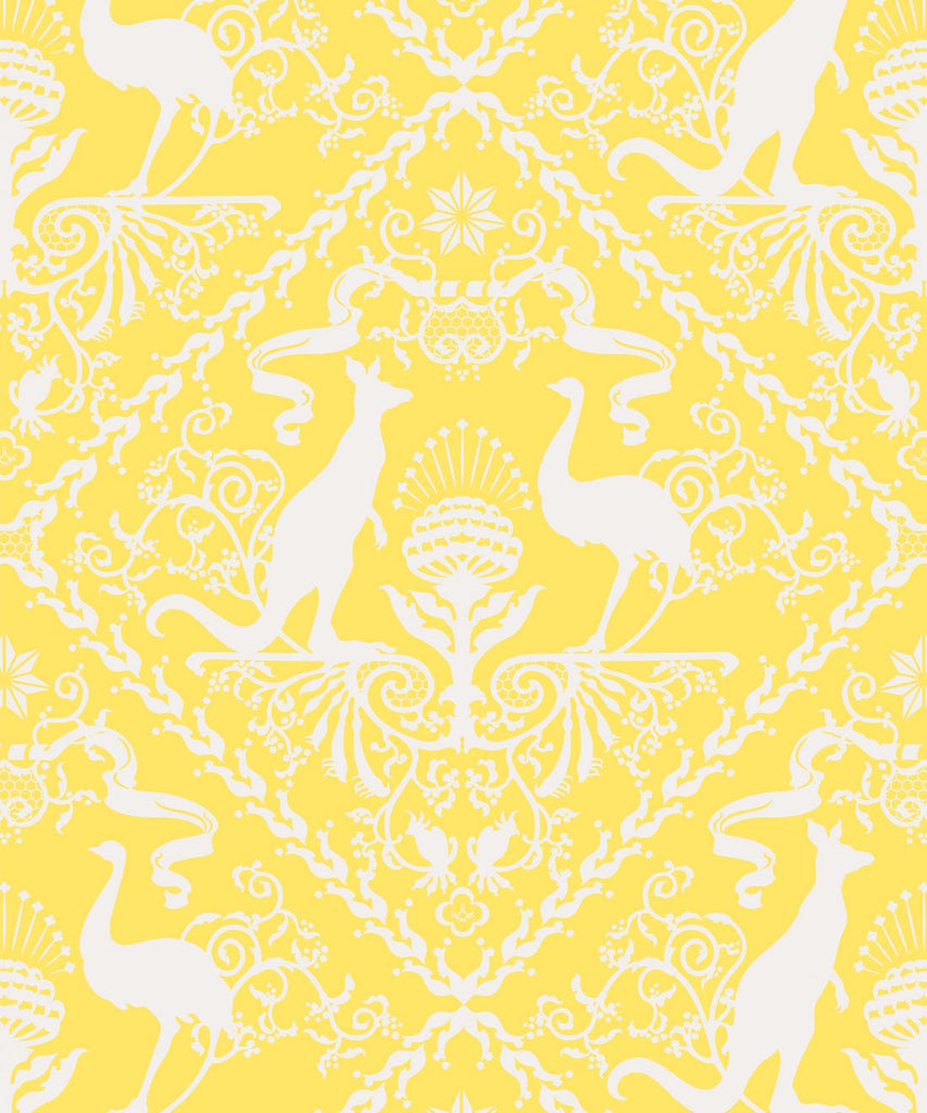 Sample In Australia We Trust Wallpaper in Sunshine from the Kingdom Home Collection by Milton & King