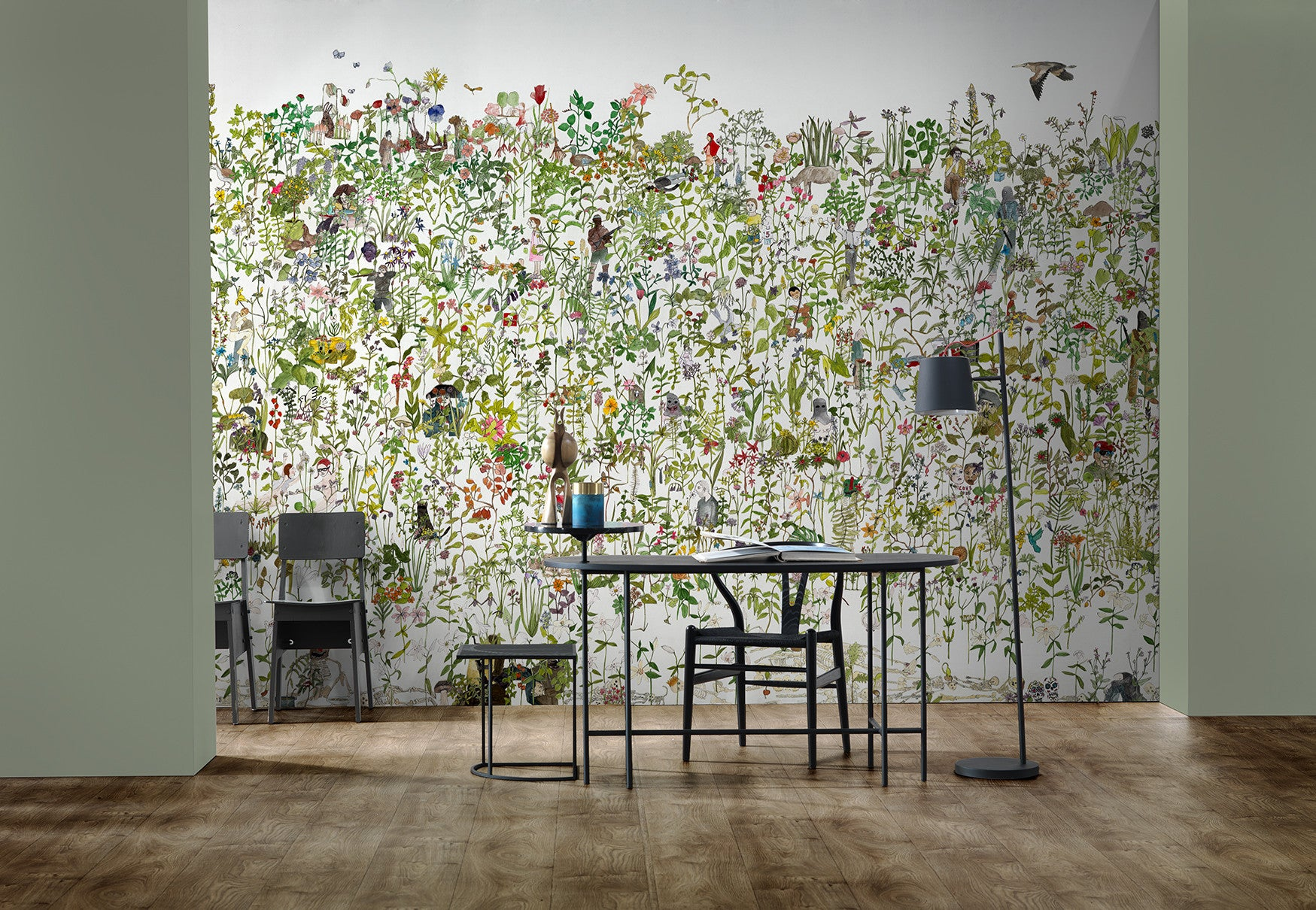 In The Garden Wall Mural by Anna Surie for NLXL Lab BURKE DECOR