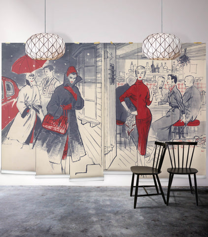 In Vogue Wall Mural from the Erstwhile Collection by Milton & King