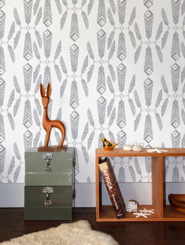 indian summer wallpaper in glimmer design by aimee wilder burke decor. Black Bedroom Furniture Sets. Home Design Ideas