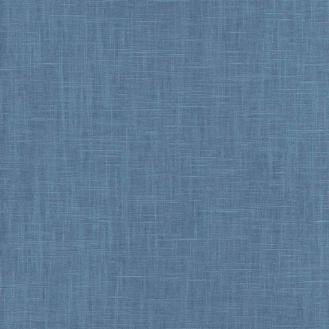 Indie Linen Embossed Vinyl Wallpaper in Hale Blue from the Boho Rhapsody Collection by Seabrook Wallcoverings