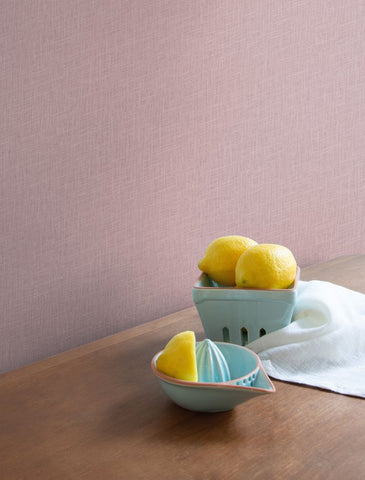 Indie Linen Embossed Vinyl Wallpaper in Violet from the Boho Rhapsody Collection by Seabrook Wallcoverings