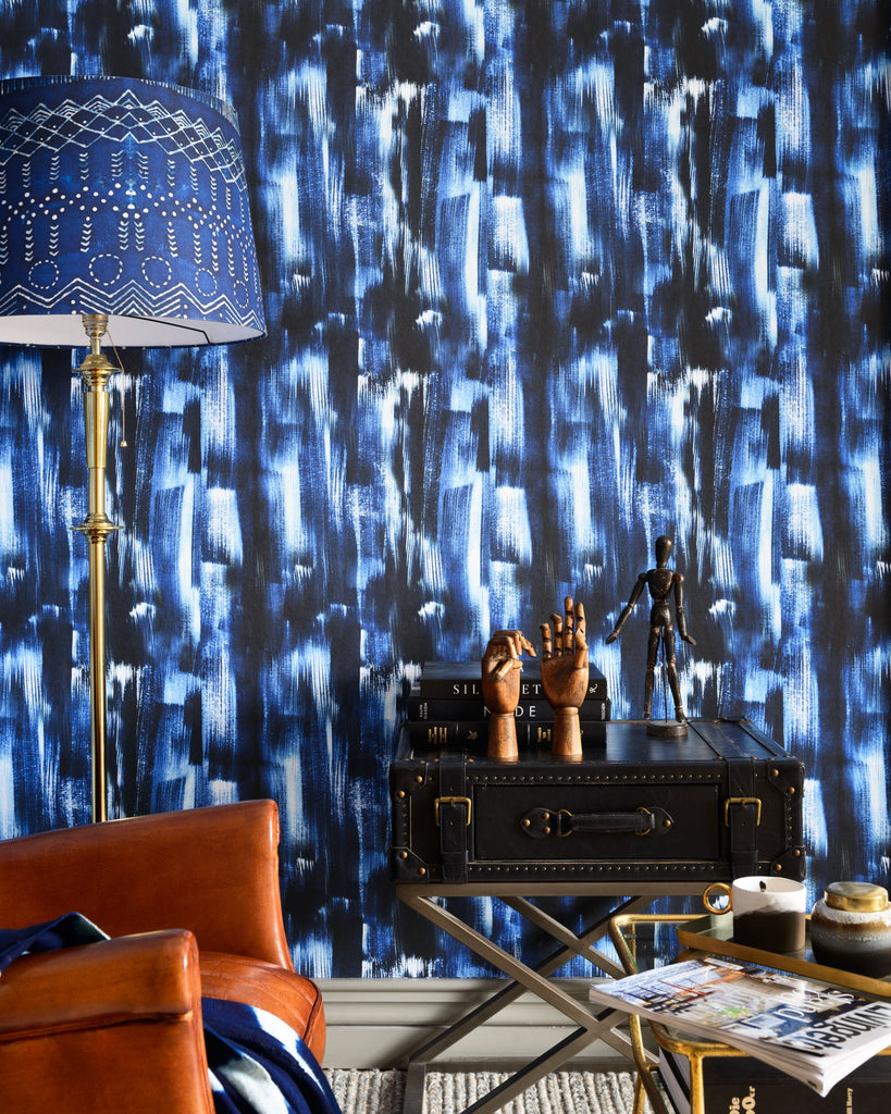 Indigo Madness Wallpaper from the Wallpaper Compendium Collection by Mind the Gap