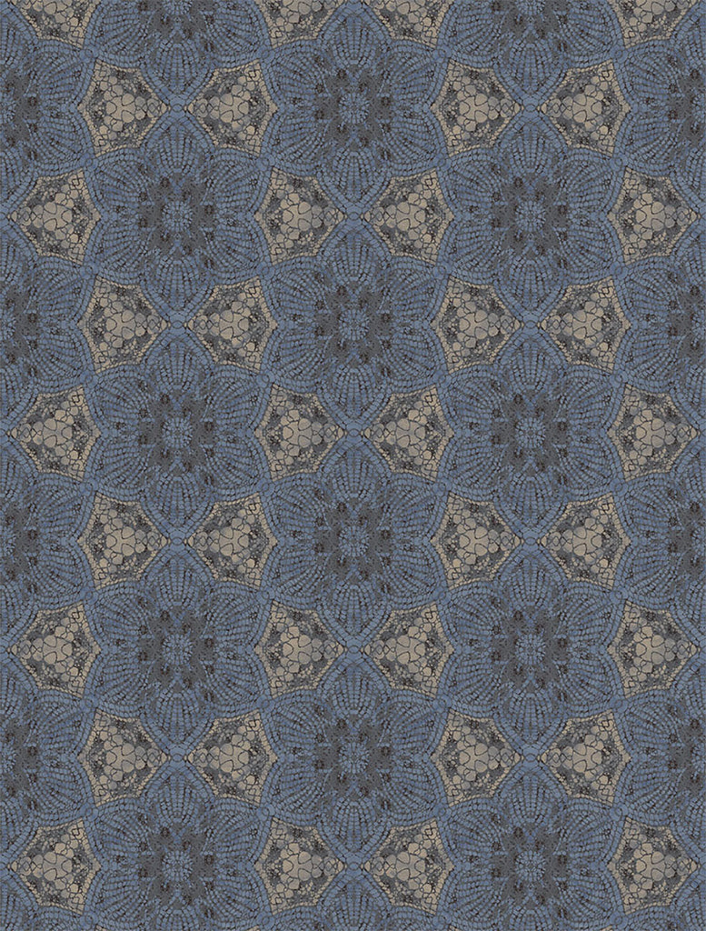 Indigo Boho Flower Wall Mural by Eijffinger for Brewster Home Fashions