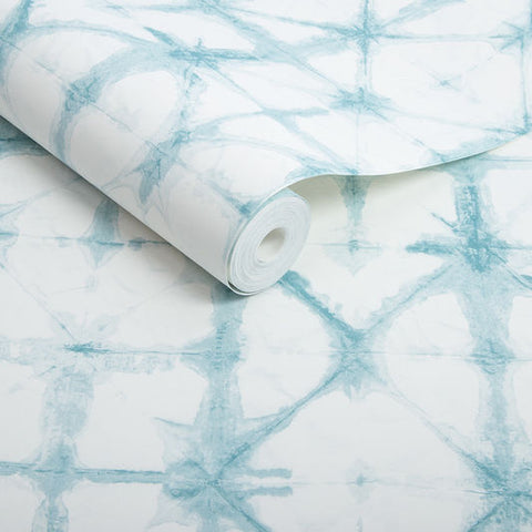 Indigo Wallpaper in Aqua from the Exclusives Collection by Graham & Brown
