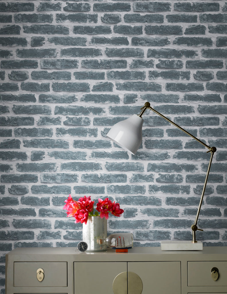 Industry Wallpaper in Noir from the Strata Collection by Graham & Brown