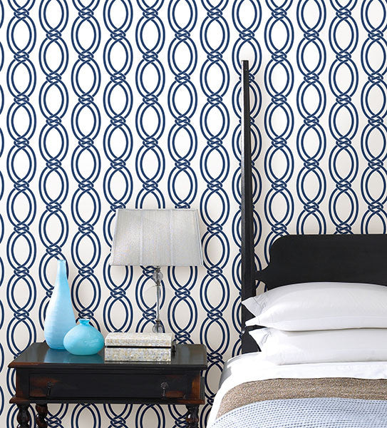 Infinity Geometric Stripe Wallpaper from the Symetrie Collection by Brewster Home Fashions