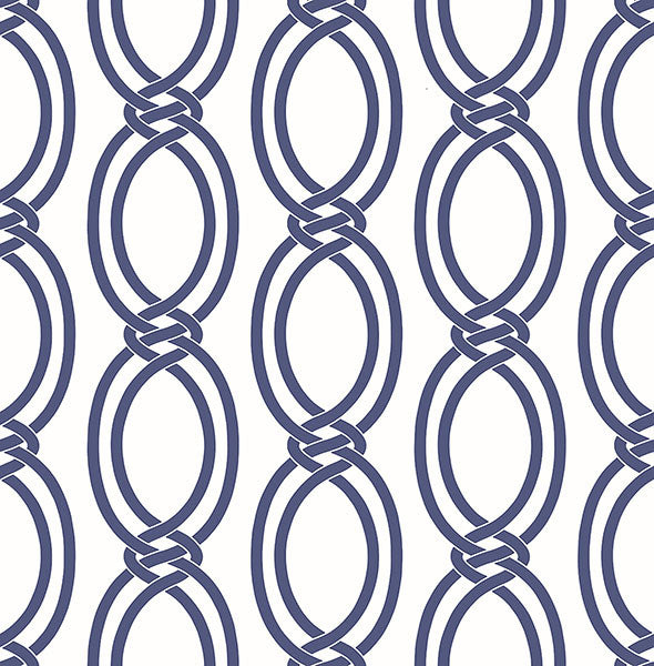 Sample Infinity Indigo Geometric Stripe Wallpaper from the Symetrie Collection by Brewster Home Fashions