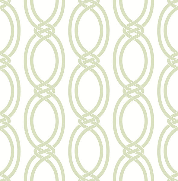 Sample Infinity Light Green Geometric Stripe Wallpaper from the Symetrie Collection by Brewster Home Fashions