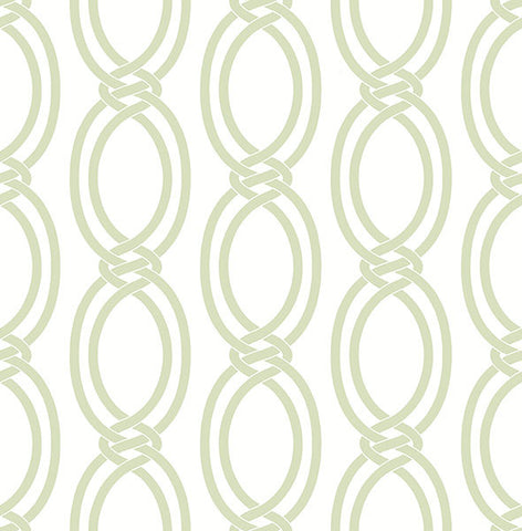 Infinity Light Green Geometric Stripe Wallpaper from the Symetrie Collection by Brewster Home Fashions