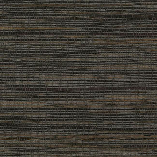 Sample Inked Grass Wallpaper in Brown from the Grasscloth II Collection by York Wallcoverings