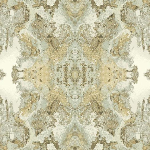 Inner Beauty Wallpaper in Light Grey from the Botanical Dreams Collection by Candice Olson for York Wallcoverings