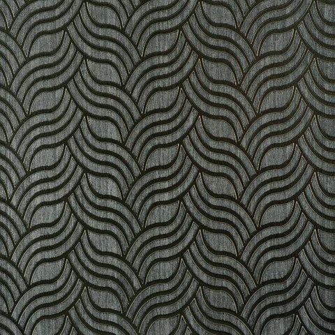 Interlocking Geo Wallpaper in Charcoal and Silver by York Wallcoverings