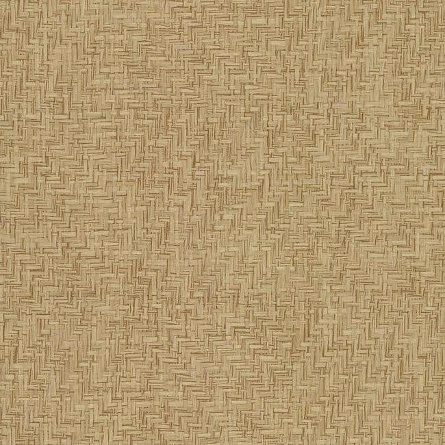 Interlocking Weave Wallpaper from the Grasscloth II Collection by York Wallcoverings