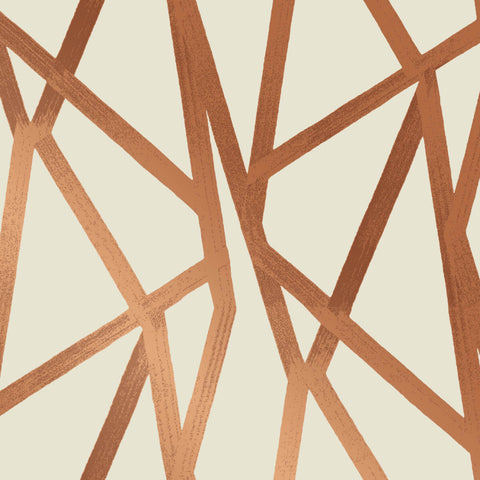 Intersections Self Adhesive Wallpaper in Urban Bronze by Genevieve Gorder for Tempaper